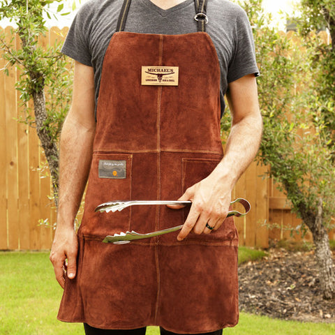 Personalized Leather Grilling Apron (Longhorn Bar & Grill)
