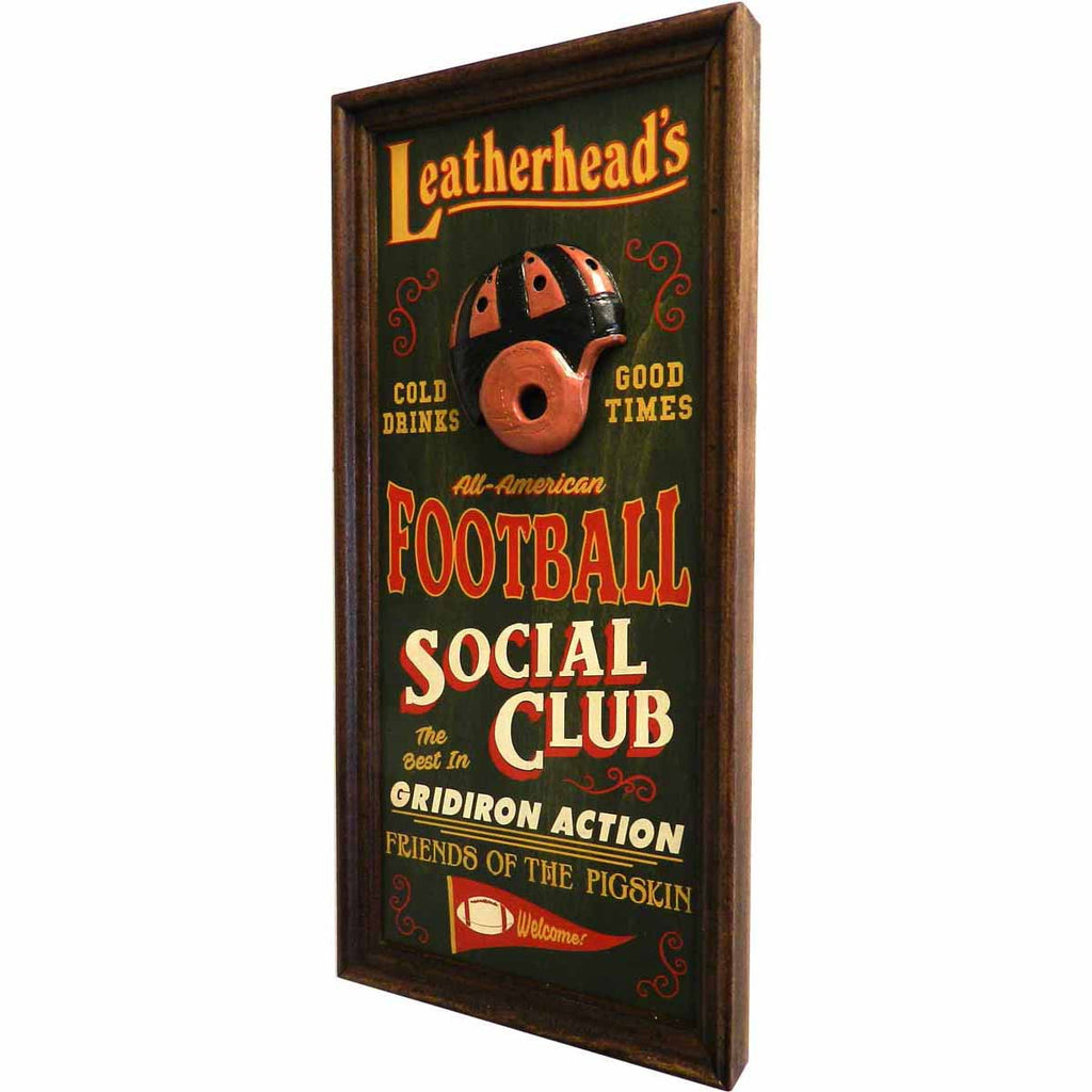 Personalized Leatherheads Vaudeville Sign (Football) - Personalized Gifts for Men - GUYVILLE