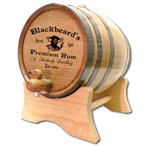 Blackbeard's Distillery Personalized Whiskey Barrel