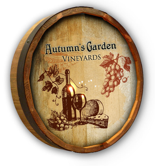 Personalized Autumn Garden Color Quarter Barrel