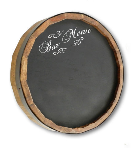 Bar Menu Quarter Barrel Top Chalkboard Sign