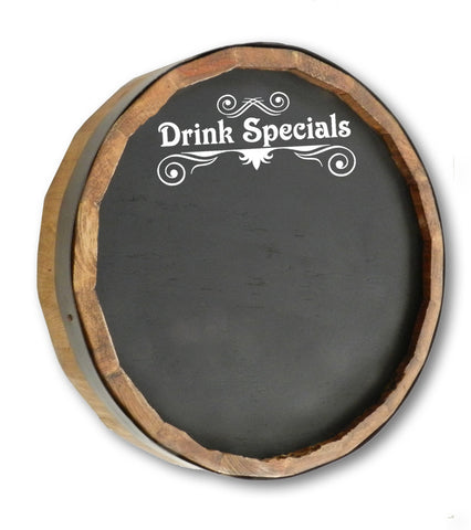 Drink Specials Quarter Barrel Top Chalkboard Sign