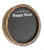 Personalized Happy Hour Quarter Barrel Top Chalkboard Sign