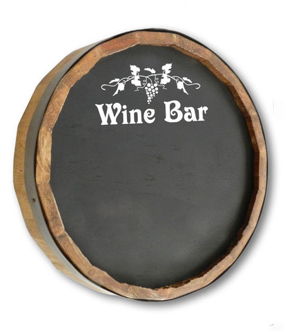 Wine Bar Quarter Barrel Chalkboard Sign