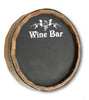Personalized Wine Bar Quarter Barrel Chalkboard Sign