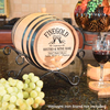 Cheers! Wine Bar Personalized Oak Barrel - Personalized Gifts for Men - GUYVILLE