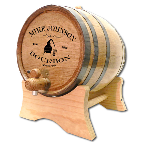 Copper Still Bourbon Personalized Whiskey Barrel