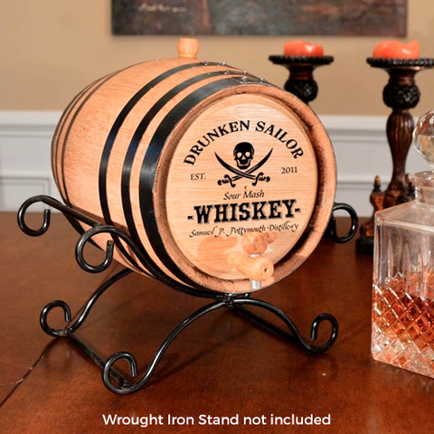 Drunken Sailor Personalized Whiskey Barrel