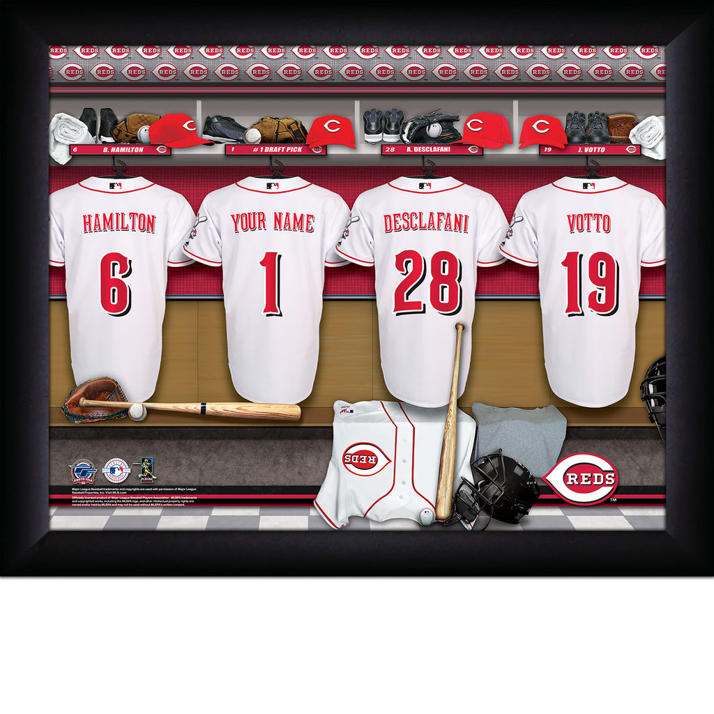 Personalized Cincinnati Reds MLB  Locker Room Sign - Personalized Gifts for Men - GUYVILLE