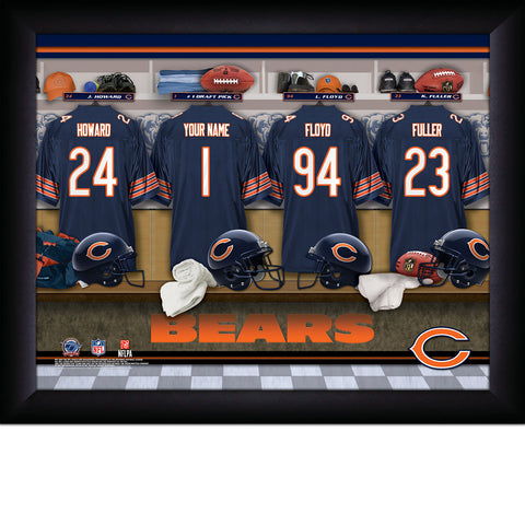 Personalized Chicago Bears NFL Locker Room Signs