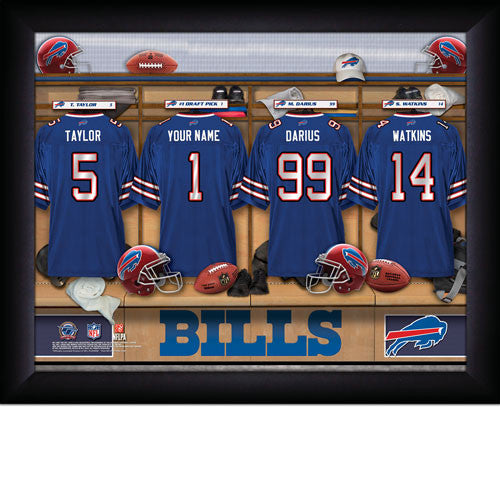 Personalized Buffalo Bills NFL Locker Room Signs - Personalized Gifts for Men - GUYVILLE
