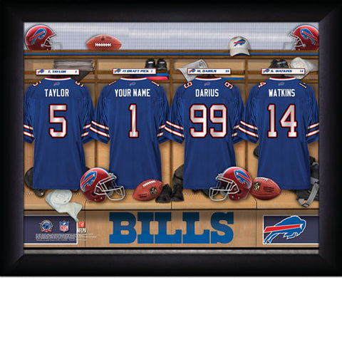 Personalized Buffalo Bills NFL Locker Room Signs