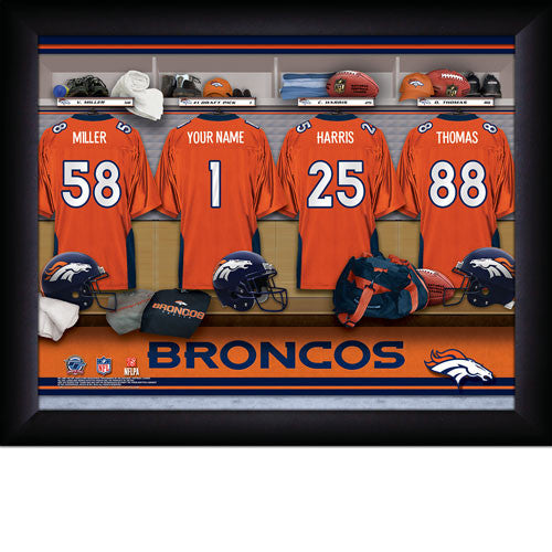 Personalized Denver Broncos NFL Locker Room Signs - Personalized Gifts for Men - GUYVILLE