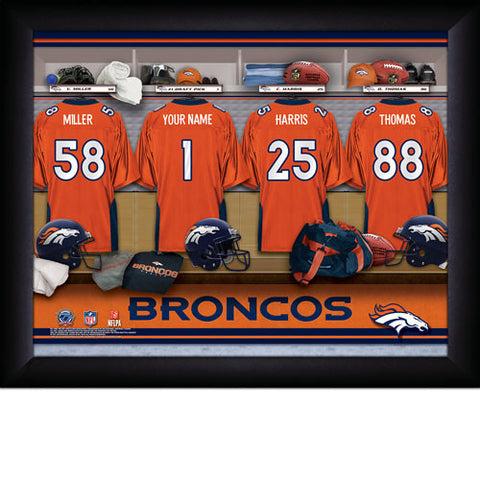 Personalized Denver Broncos NFL Locker Room Signs