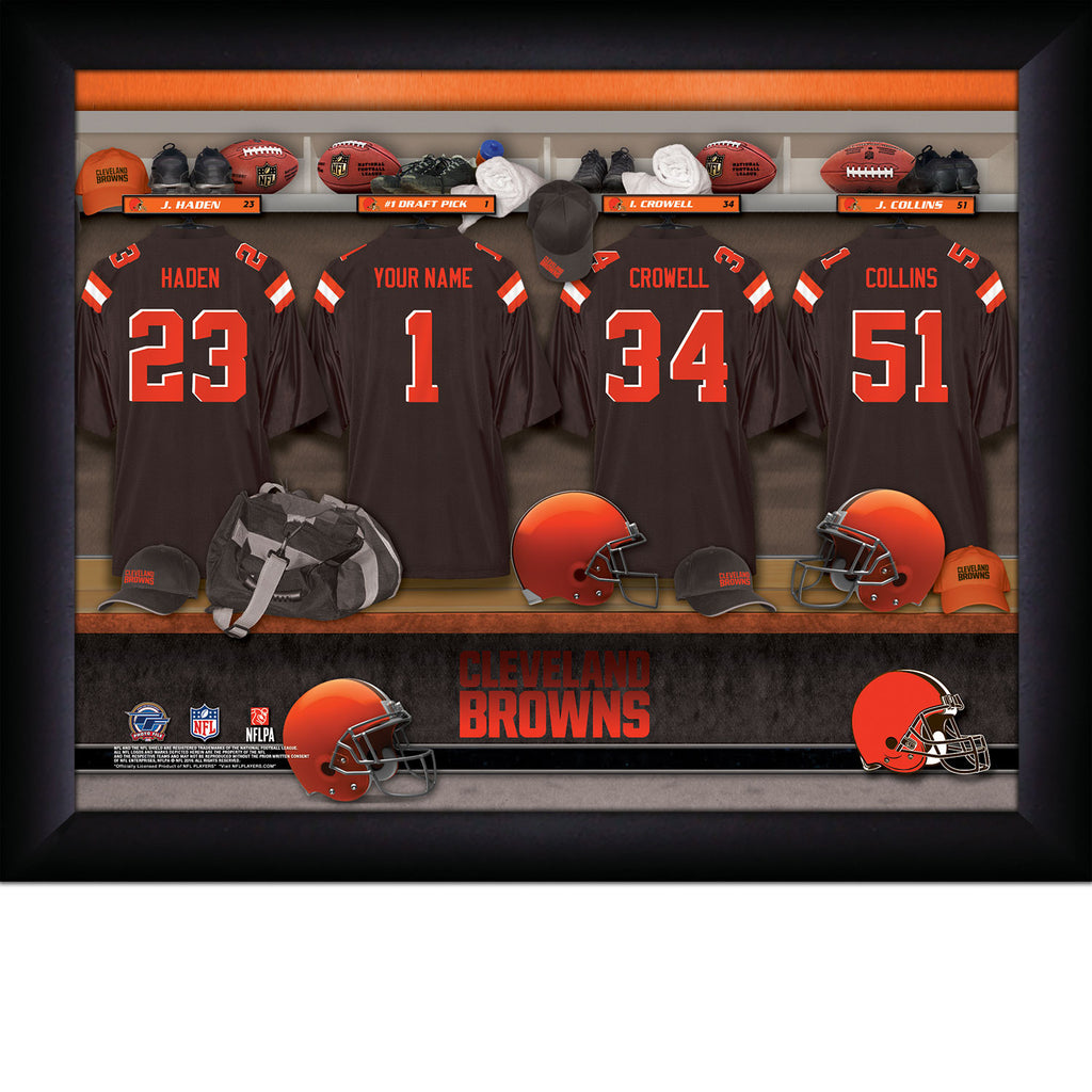 Personalized Cleveland Browns NFL Locker Room Signs - Personalized Gifts for Men - GUYVILLE
