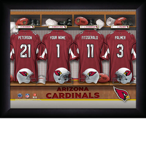 Personalized Arizona Cardinals NFL Locker Room Signs