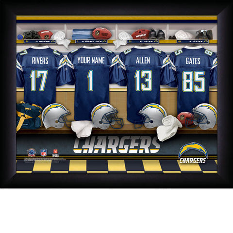Personalized San Diego Chargers NFL Locker Room Signs