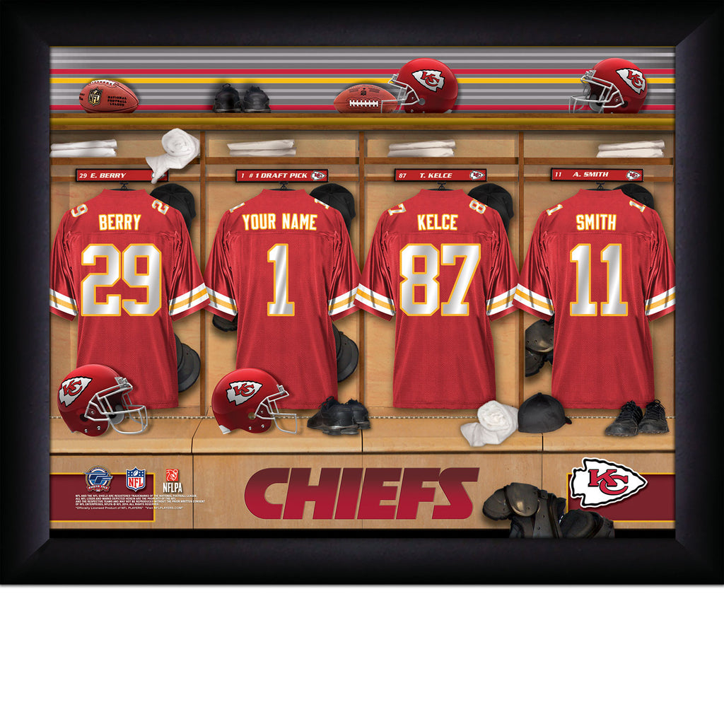 Personalized Kansas City Chiefs NFL Locker Room Signs