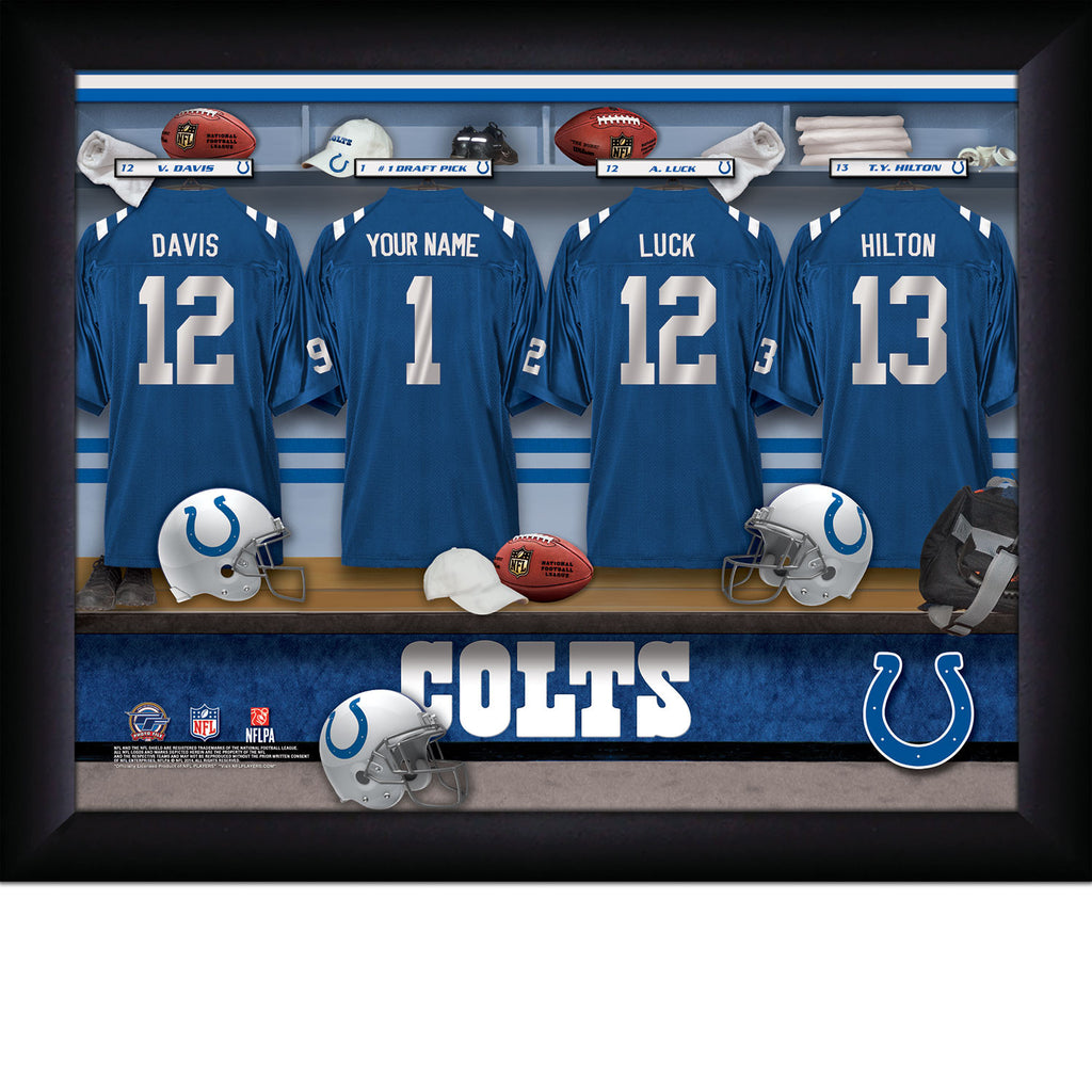 Personalized Indianapolis Colts NFL Locker Room Signs - Personalized Gifts for Men - GUYVILLE