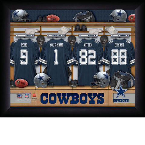Personalized Dallas Cowboys NFL Locker Room Signs