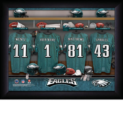 Personalized Philadelphia Eagles NFL Locker Room Signs