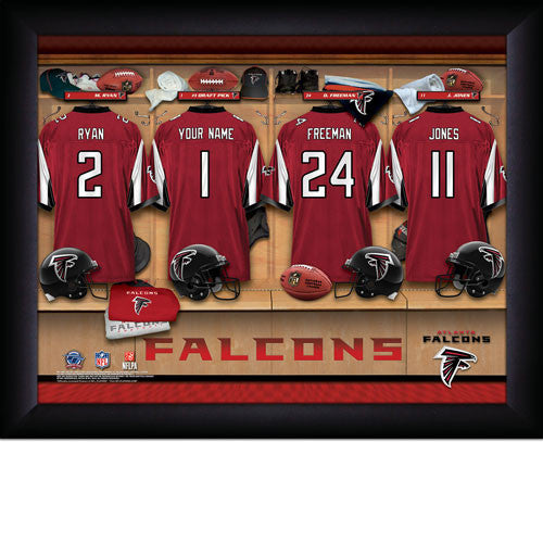 Personalized Atlanta Falcons NFL Locker Room Signs - Personalized Gifts for Men - GUYVILLE