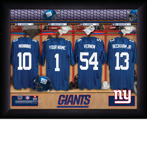 Personalized New York Giants NFL Locker Room Signs