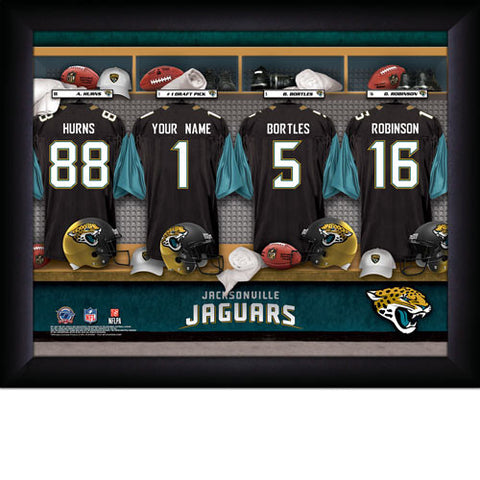 Personalized Jacksonville Jaguars NFL Locker Room Signs