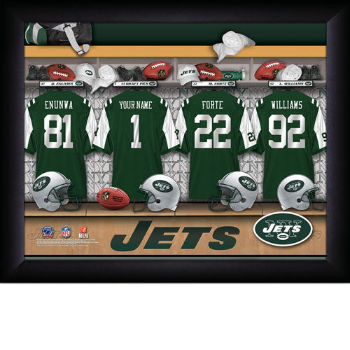 Personalized New York Jets NFL Locker Room Signs