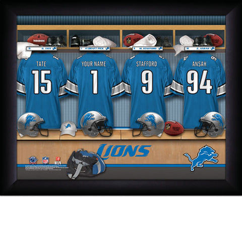 Personalized Detroit Lions NFL Locker Room Signs