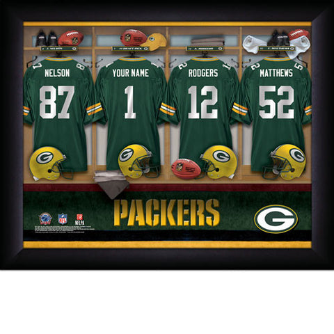 Personalized Green Bay Packers NFL Locker Room Signs
