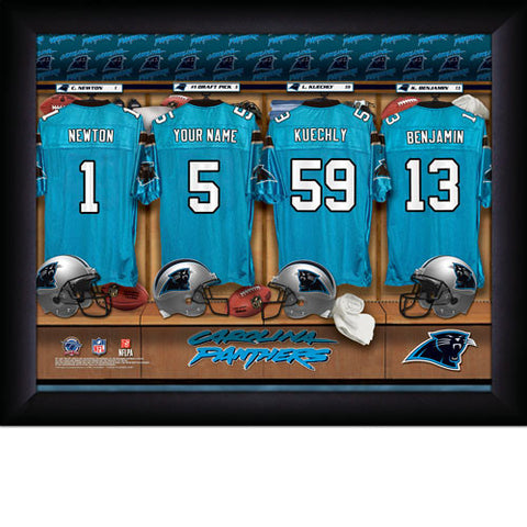 Personalized Carolina Panthers NFL Locker Room Signs