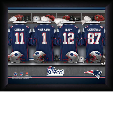 Personalized NFL Locker Room Signs - New England Patriots