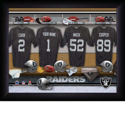 Personalized Oakland Raiders NFL Locker Room Signs