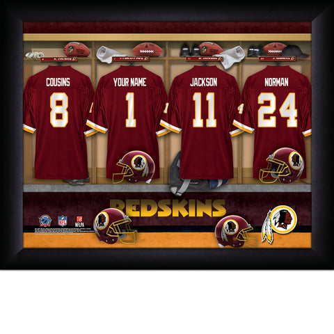 Personalized NFL Locker Room Signs - Washington Redskins