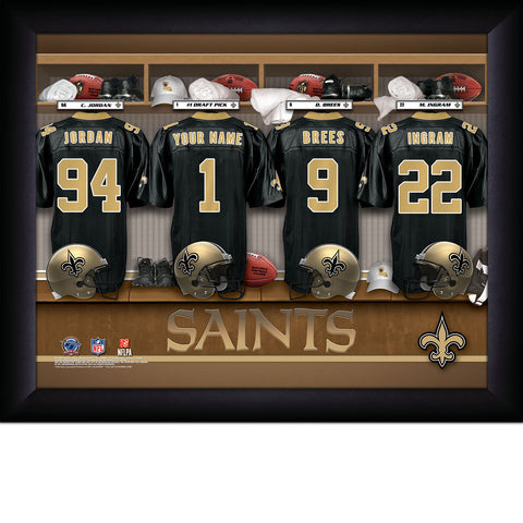 Personalized New Orleans Saints NFL Locker Room Signs