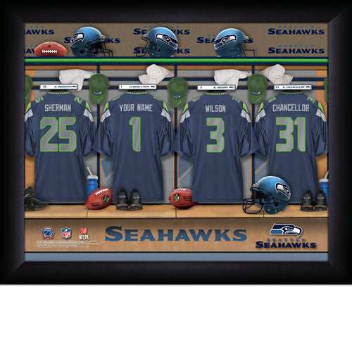 Personalized Seattle Seahawks NFL Locker Room Signs