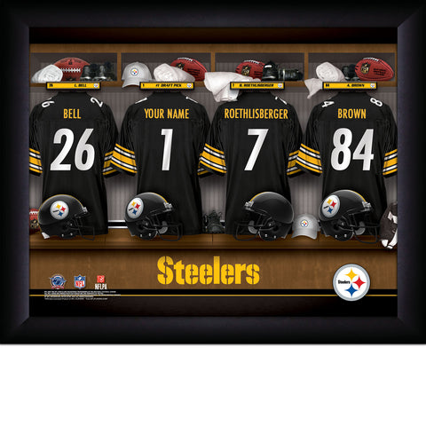 Personalized Pittsburgh Steelers NFL Locker Room Signs