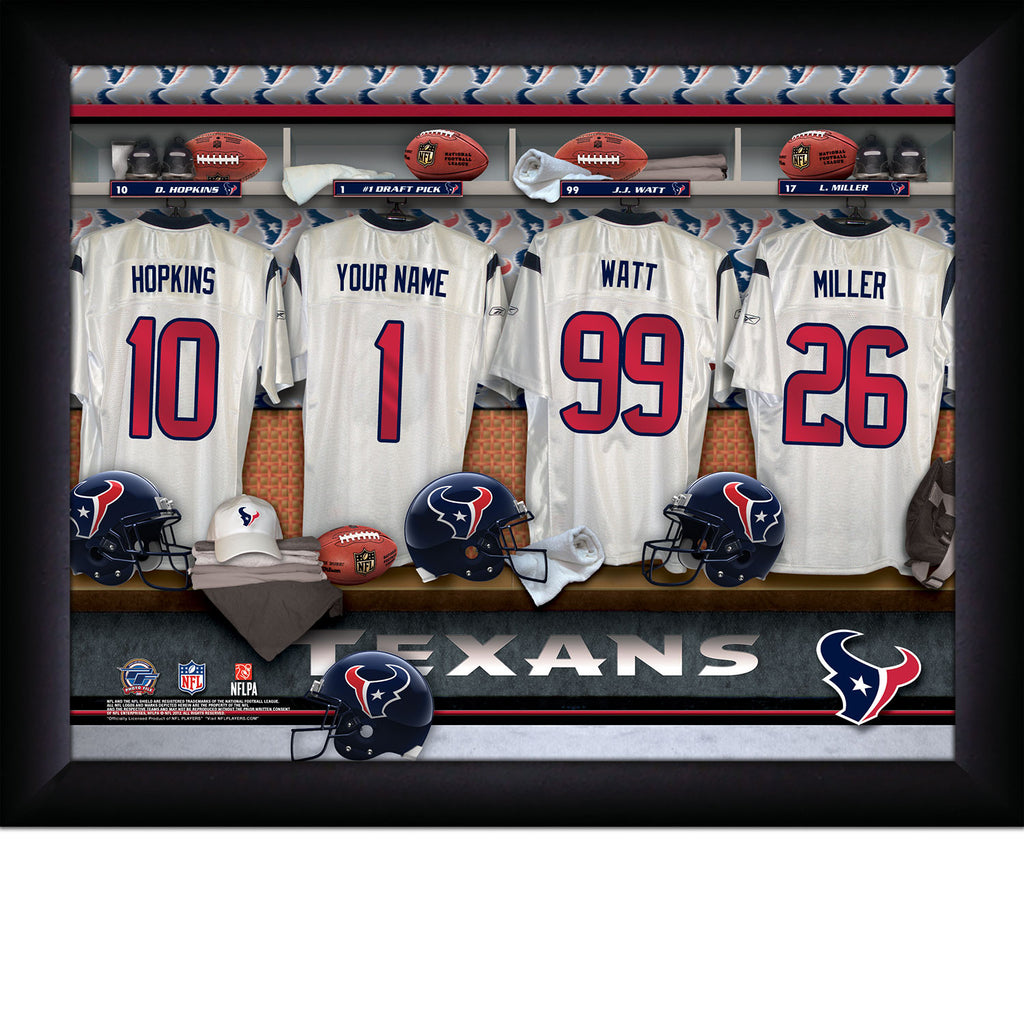 Personalized NFL Locker Room Signs - Houston Texans - Personalized Gifts for Men - GUYVILLE