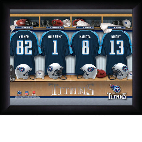 Personalized NFL Locker Room Signs - Tennessee Titans