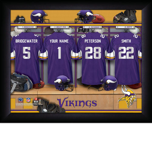 Personalized Minnesota Vikings NFL Locker Room Signs