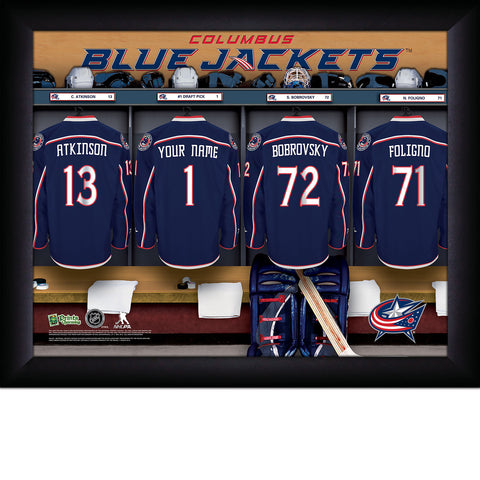 NHL Columbus Blue Jackets Locker Room Sign with Personalization