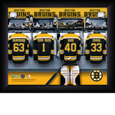 NHL Boston Bruins Locker Room Sign with Personalization
