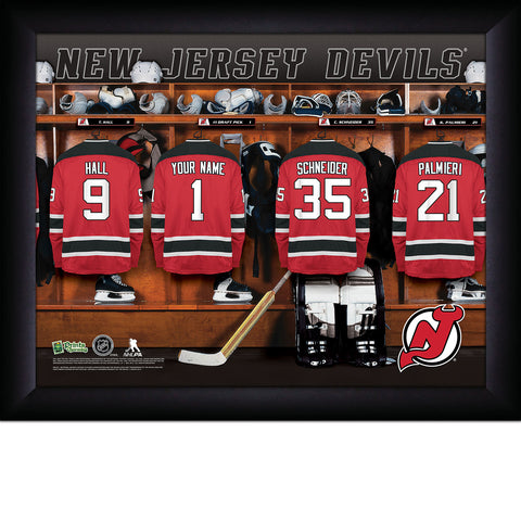 NHL New Jersey Devils Locker Room Sign with Personalization