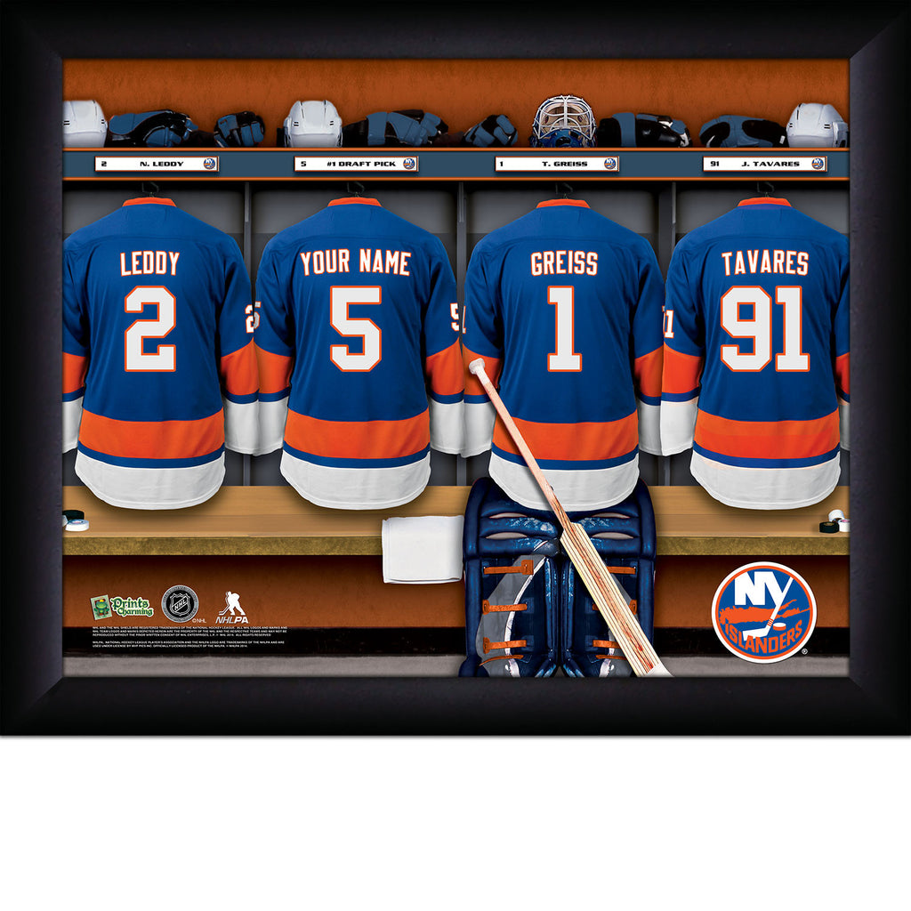 NHL New York Islanders Locker Room Sign with Personalization - Personalized Gifts for Men - GUYVILLE