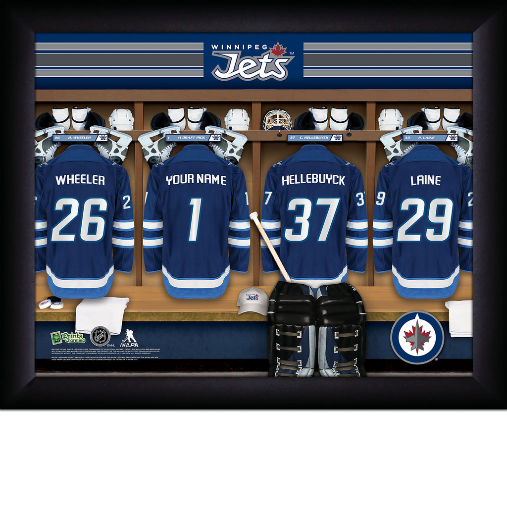 Personalized Winnipeg Jets NHL Locker Room Signs