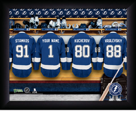 Personalized NHL Tampa Bay Lightning Locker Room Sign with Personalization