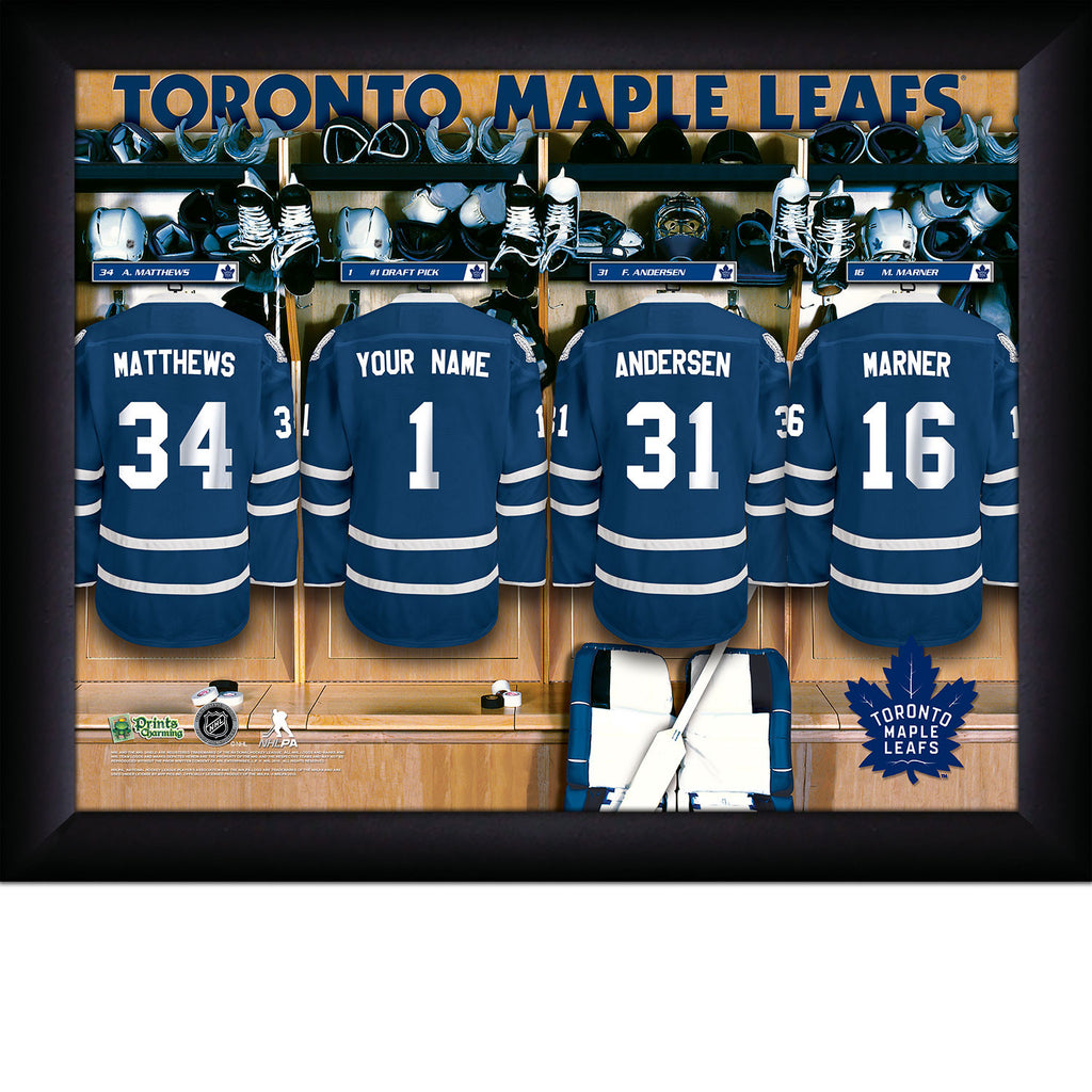 NHL Toronto Maple Leafs Locker Room Sign with Personalization - Personalized Gifts for Men - GUYVILLE