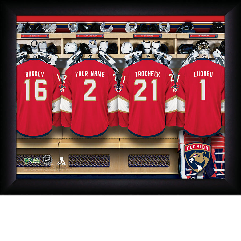 NHL Florida Panthers Locker Room Sign with Personalization - Personalized Gifts for Men - GUYVILLE