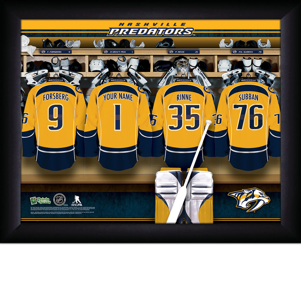 NHL Nashville Predators Locker Room Sign with Personalization - Personalized Gifts for Men - GUYVILLE